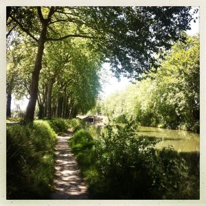 canal du midi à pied