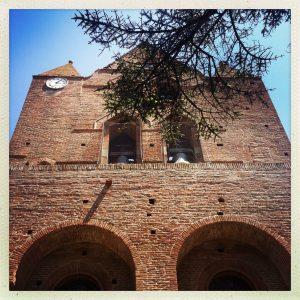 église saint étienne baziège clocher-mur