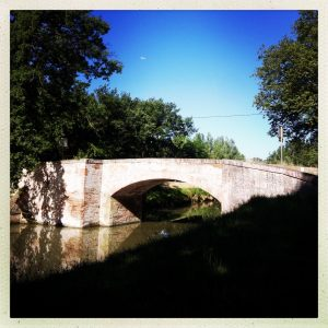 pont baziège canal du midi à pied