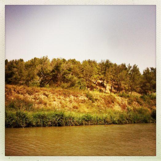 paysage après l'écluse de puichéric canal du midi