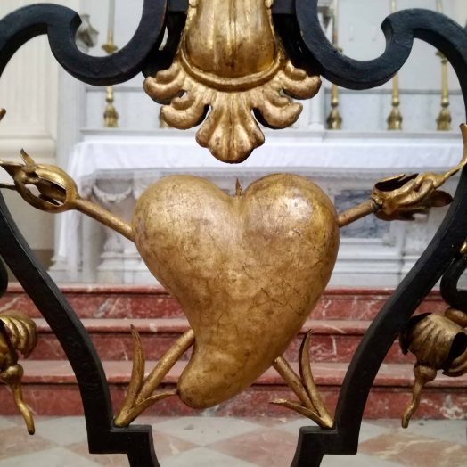 détail de la grille du Bras gauche du Transept de la cathédrale Notre-Dame-de-l'Assomption de Montauban