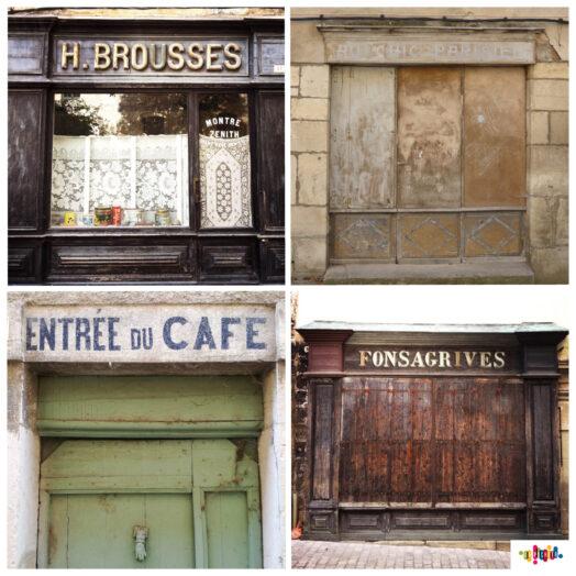 saint antonin noble val, anciennes enseignes, brousses, fonsagrives, au chic parisien